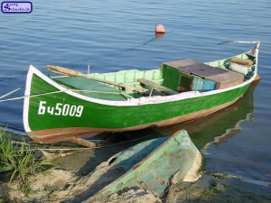 Altes Fischerboot in Balchik