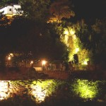 Balchik Botanischer Garten bei Nacht