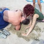 Schatzsuche am Strand in Losenez