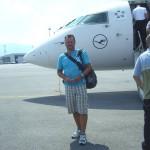Kurz vor dem Rückflug nach Düsseldorf